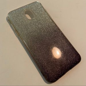 Glitter Ombré (gold/purple) Case Samsung J7